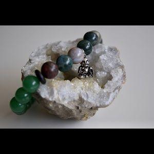 Jewelry - Buddha Aventurine and Fancy Jasper Mala Bracelet